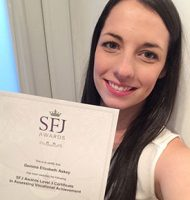 Gemma Askey With Her Level 3 Assessor Certificate