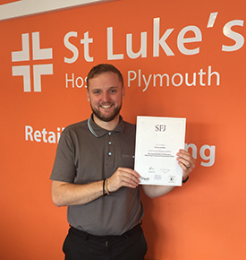 Robert Griffiths With His L3 Assessor Certificate