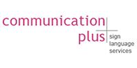 Communication Plus Sign Language Services Logo