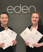 Adele & Lorraine, Eden SkinCare Clinic Receiving Their Assessor Certificates