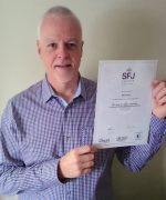 Mark Dean With His Level 3 Assessor Certificate