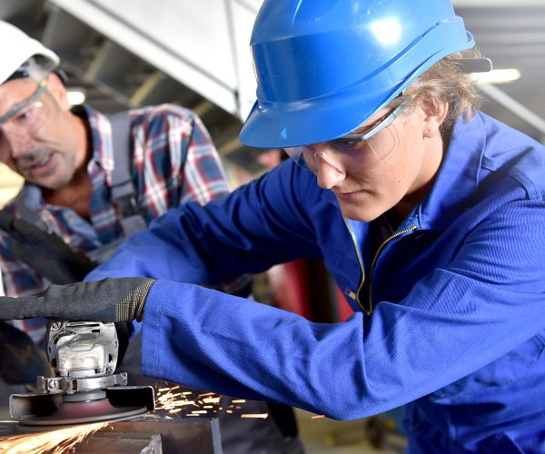 Female Manufacturing Apprentice with Assessor