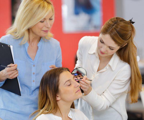 Assessor Assessing Beauty Trainee