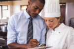 Chef Assessing Trainee